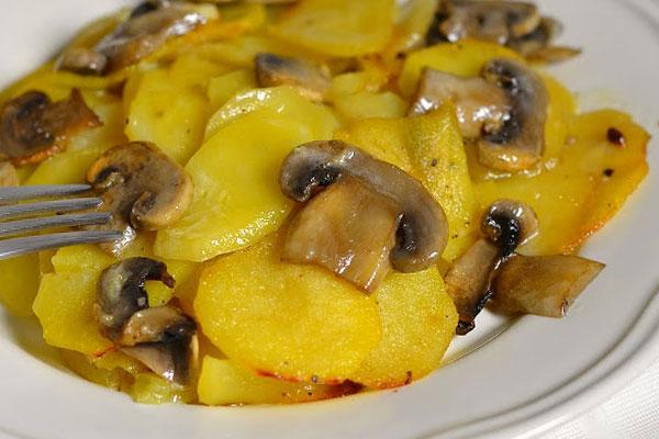 запеканка картошка грибы в мультиварке