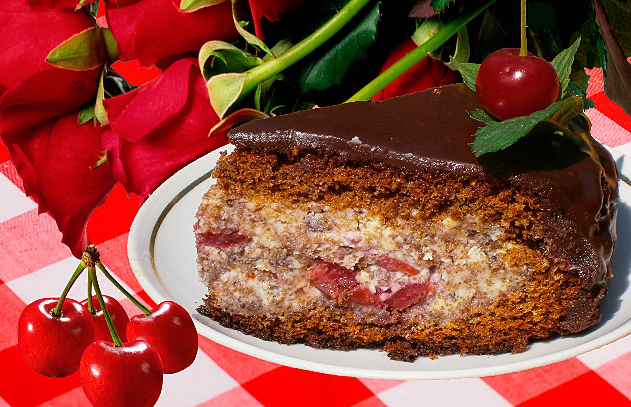 Торт пьяная вишня в мультиварке редмонд