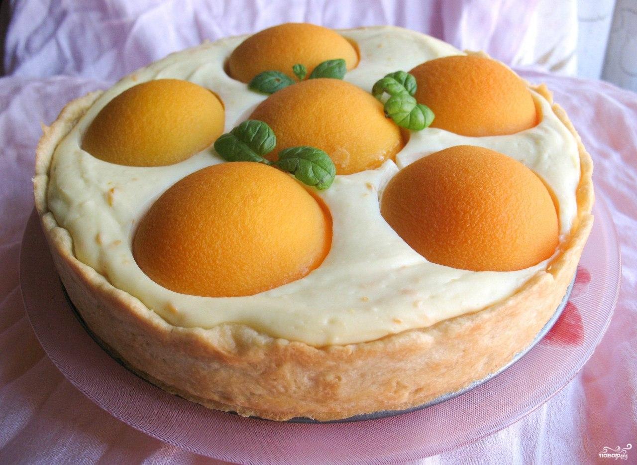 Творожный пирог с персиками в мультиварке рецепты с фото