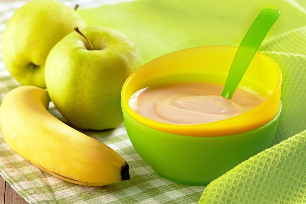 как приготовить малышу пюре из банана и яблока