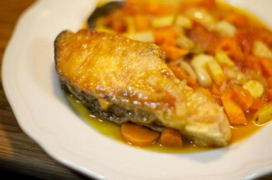 рыба на пару с овощами в мультиварке рецепты с фото