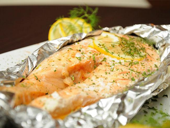 Стейки лосось в фольге в духовке рецепт