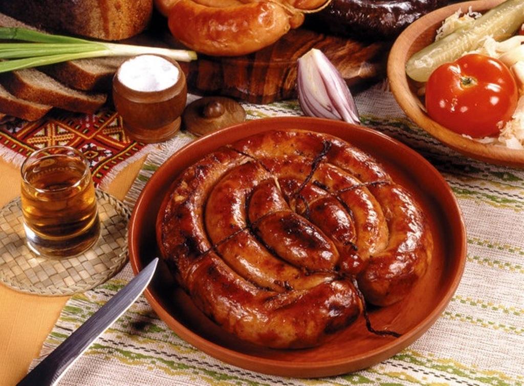 Домашняя кровяная колбаса из свинины