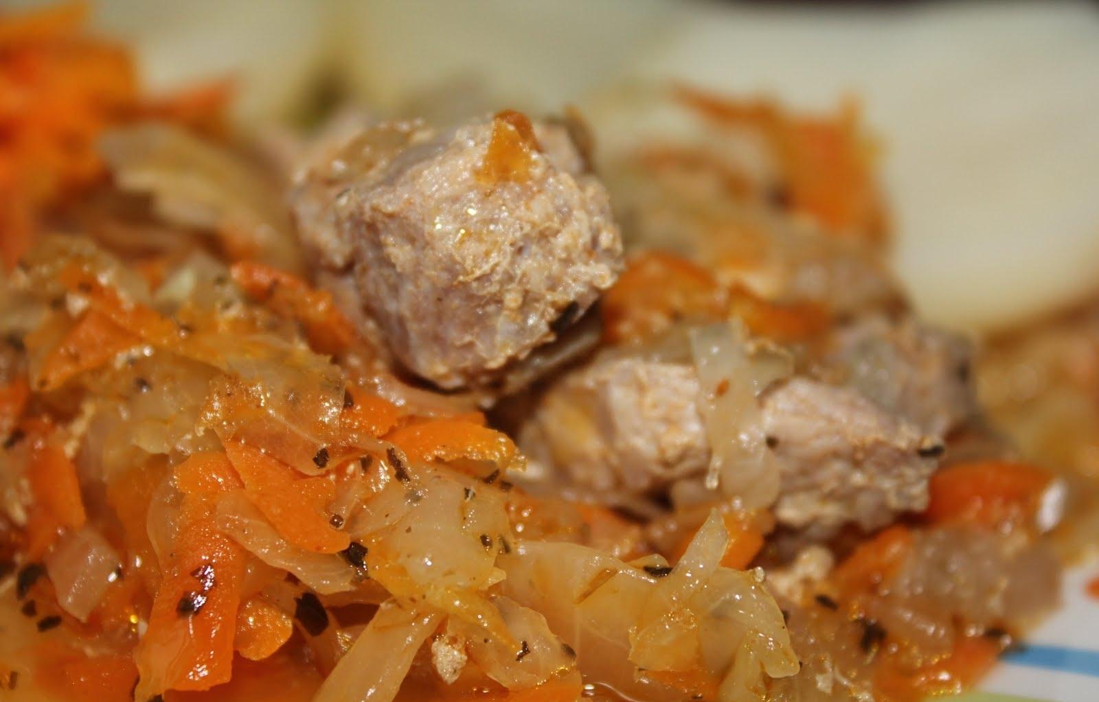 тушеная капуста в мультиварке филипс с мясом рецепт с