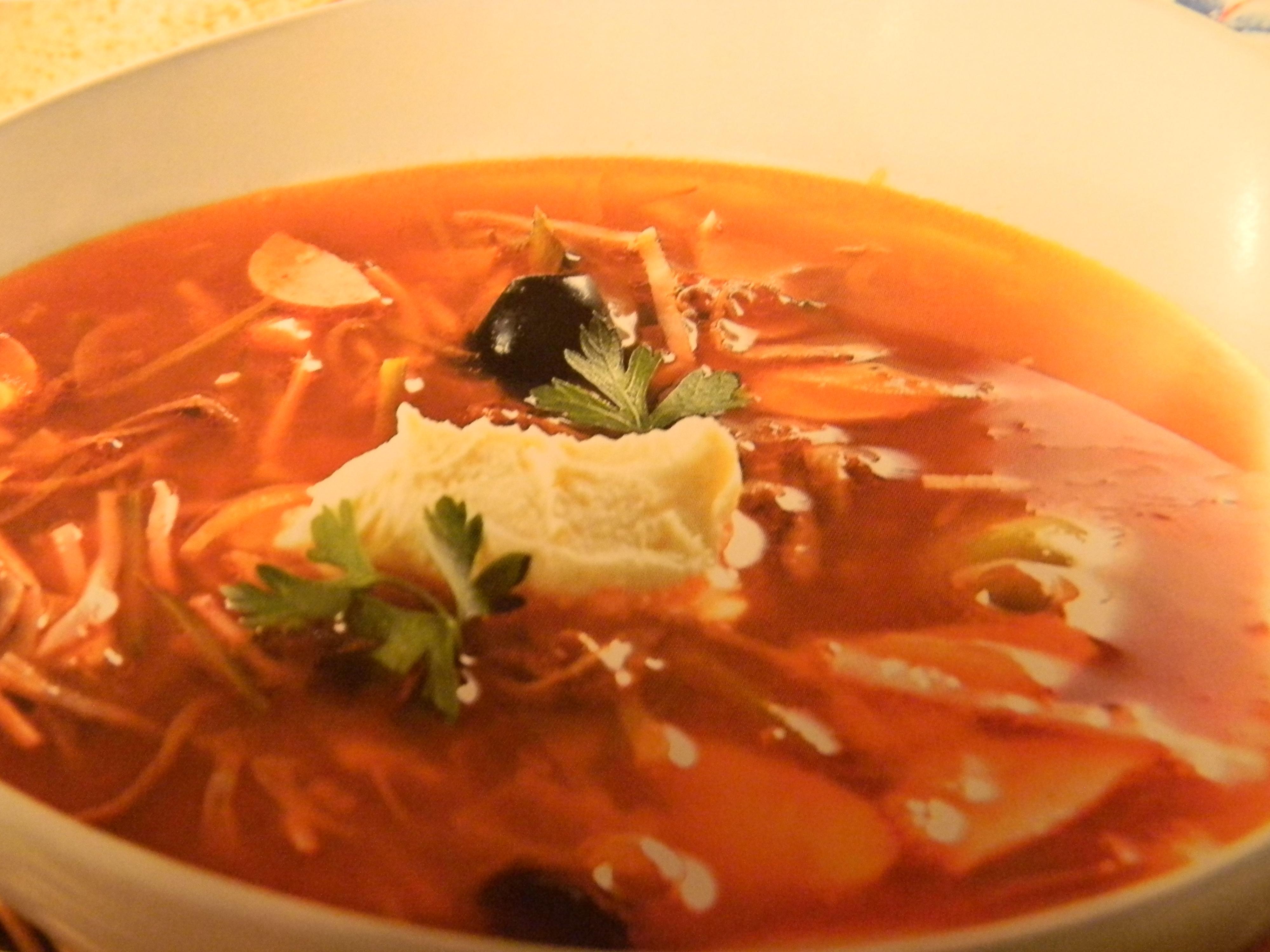 Мясной суп солянка рецепт пошагово в
