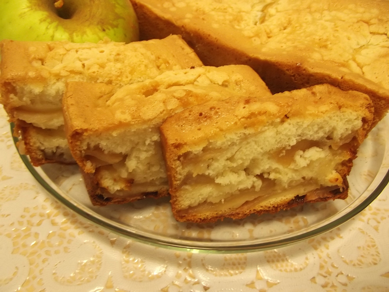 шарлотка с яблоками из майонез рецепт