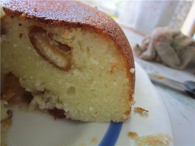 Шарлотка без яиц и манки с яблоками рецепт пошагово в духовке
