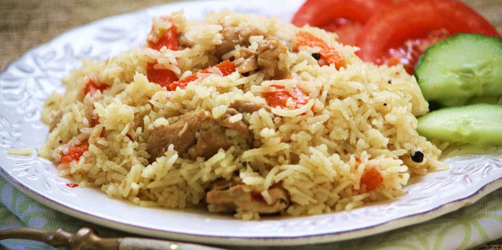 рис с овощами с курицей в мультиварке