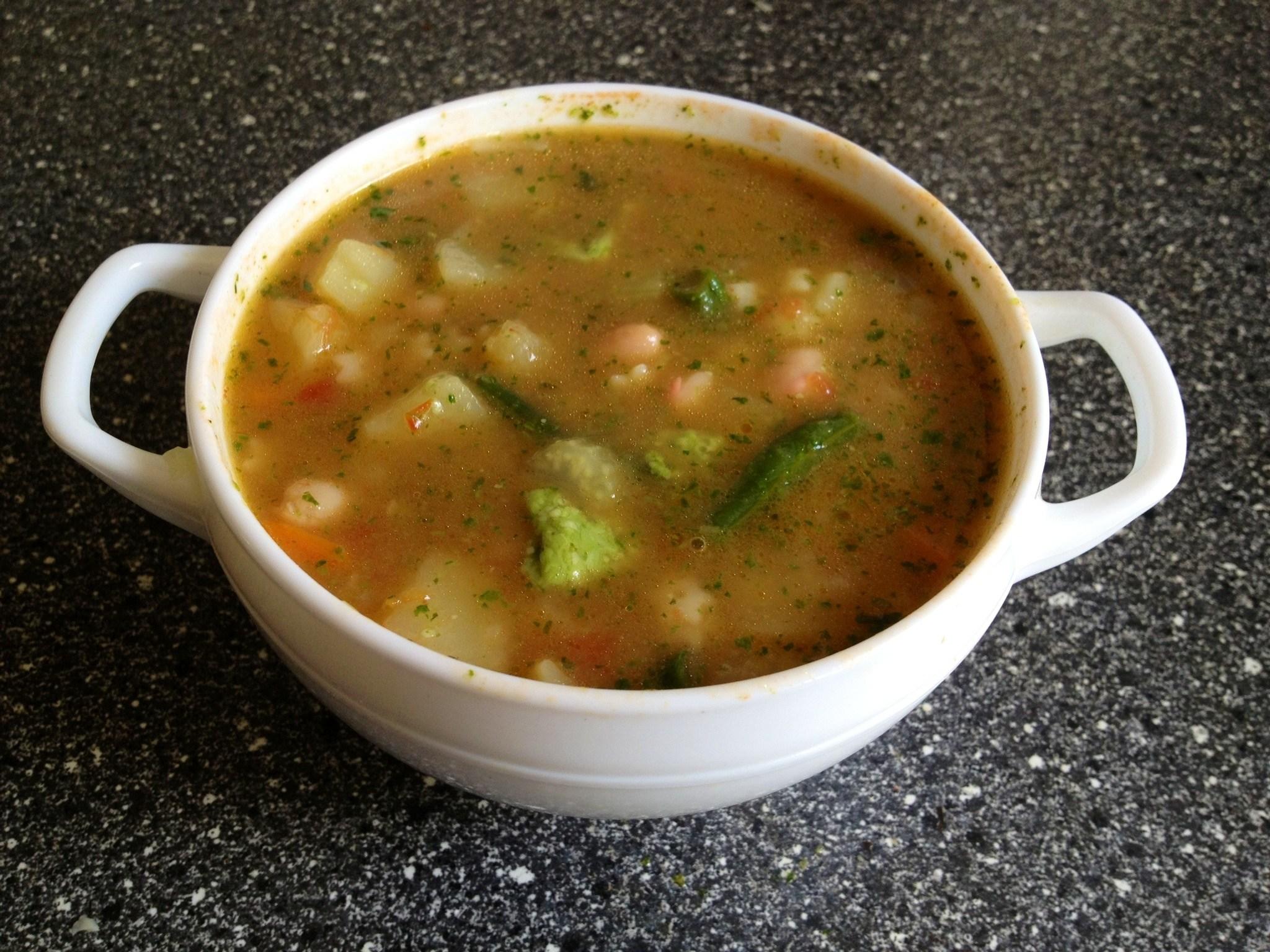 Как варить фасолевый суп рецепт