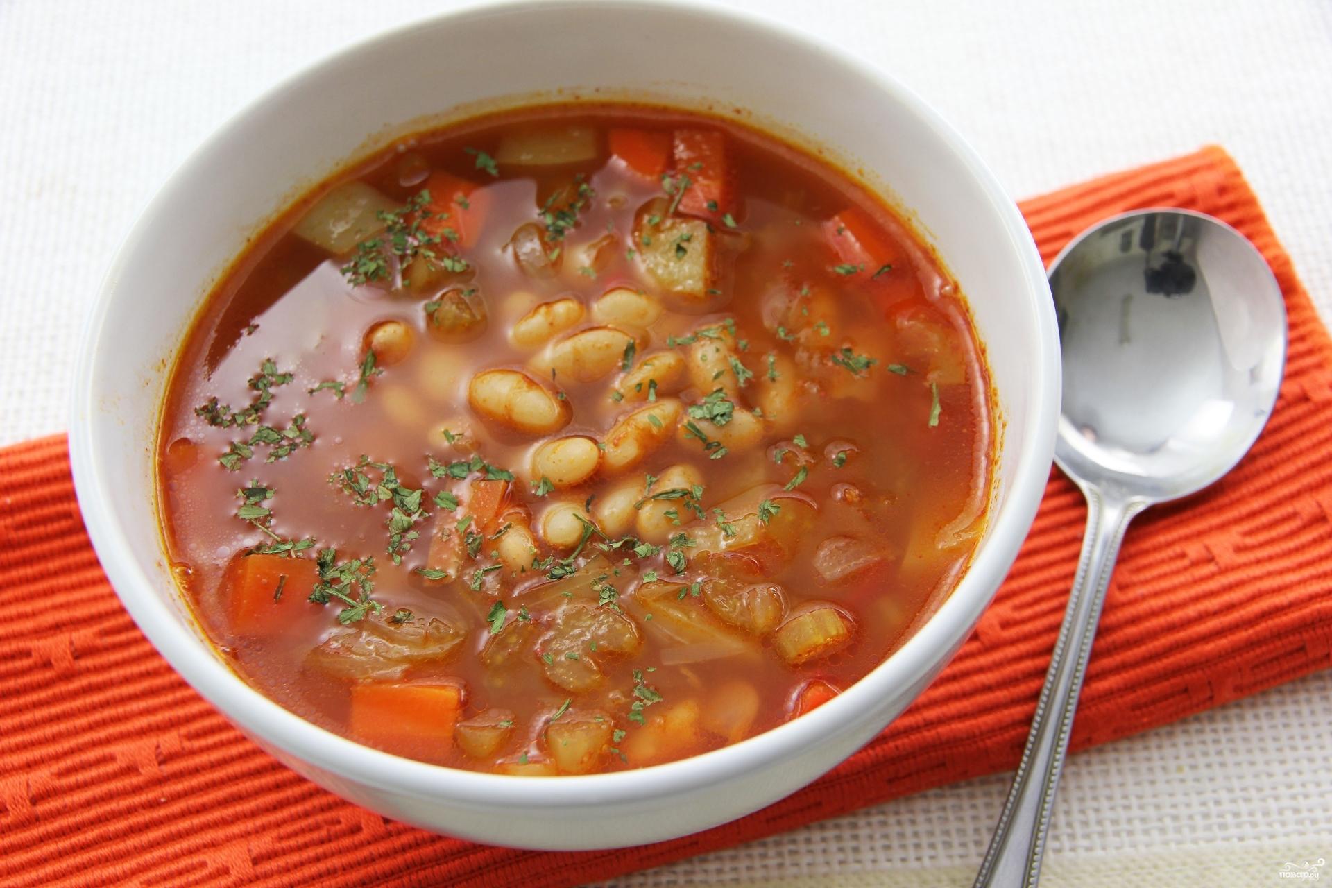 супы с фасолью рецепты с фото
