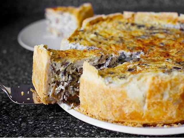 Пирог постный с грибами