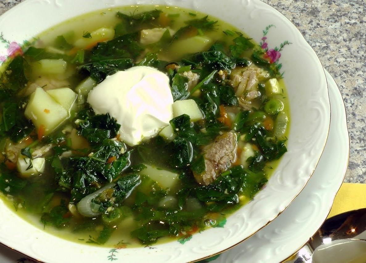 суп с фасолью и щавелем в мультиварке рецепт