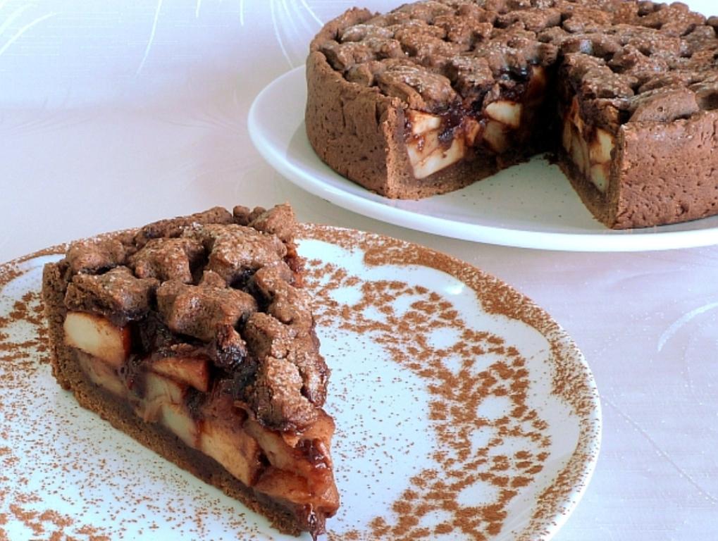 Пирог с яблоками и какао рецепт с фото пошагово в духовке