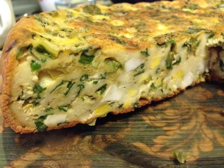 пирог с яйцом и луком в духовке рецепт с фото