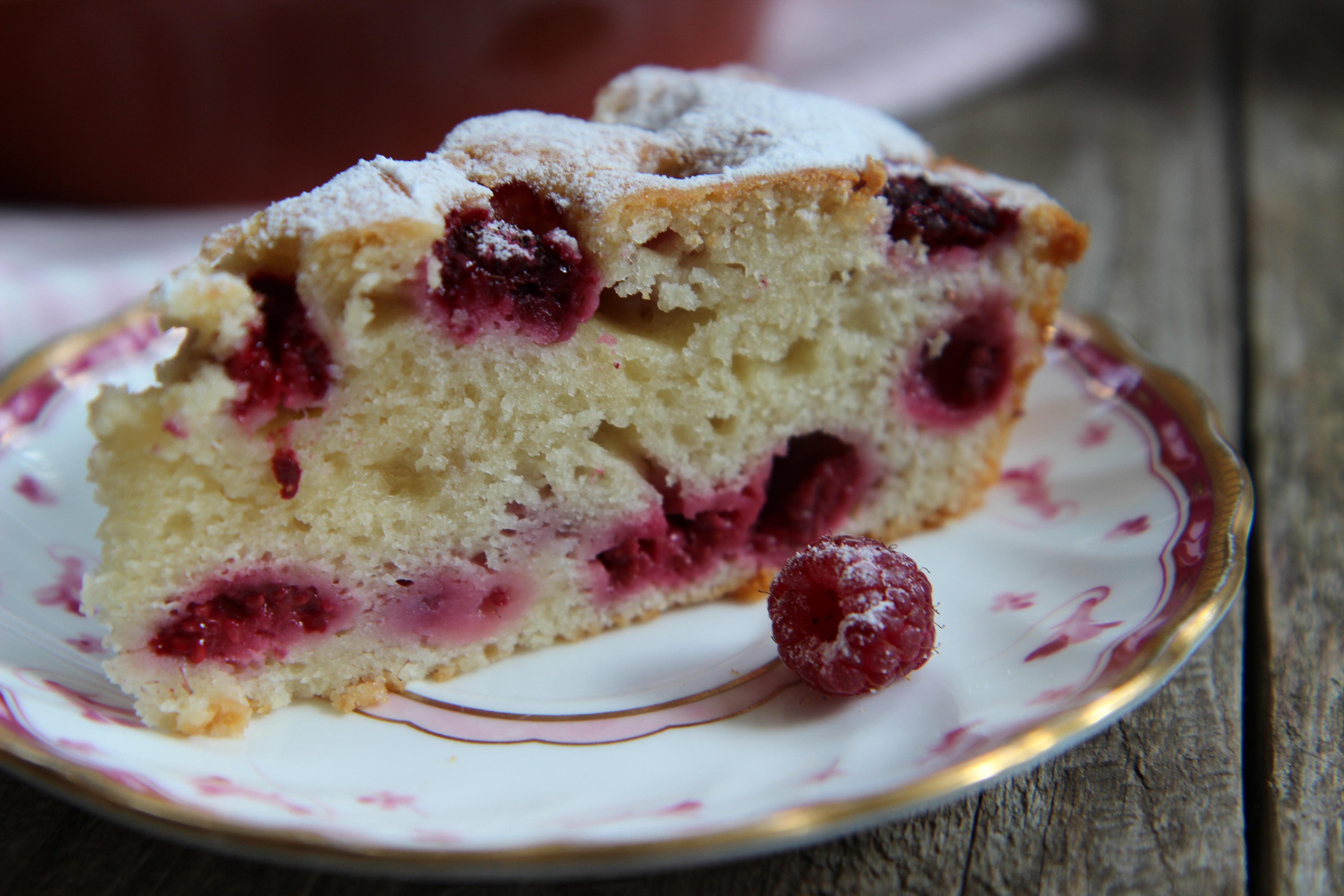 пирог в мультиварке с малиной рецепты с фото