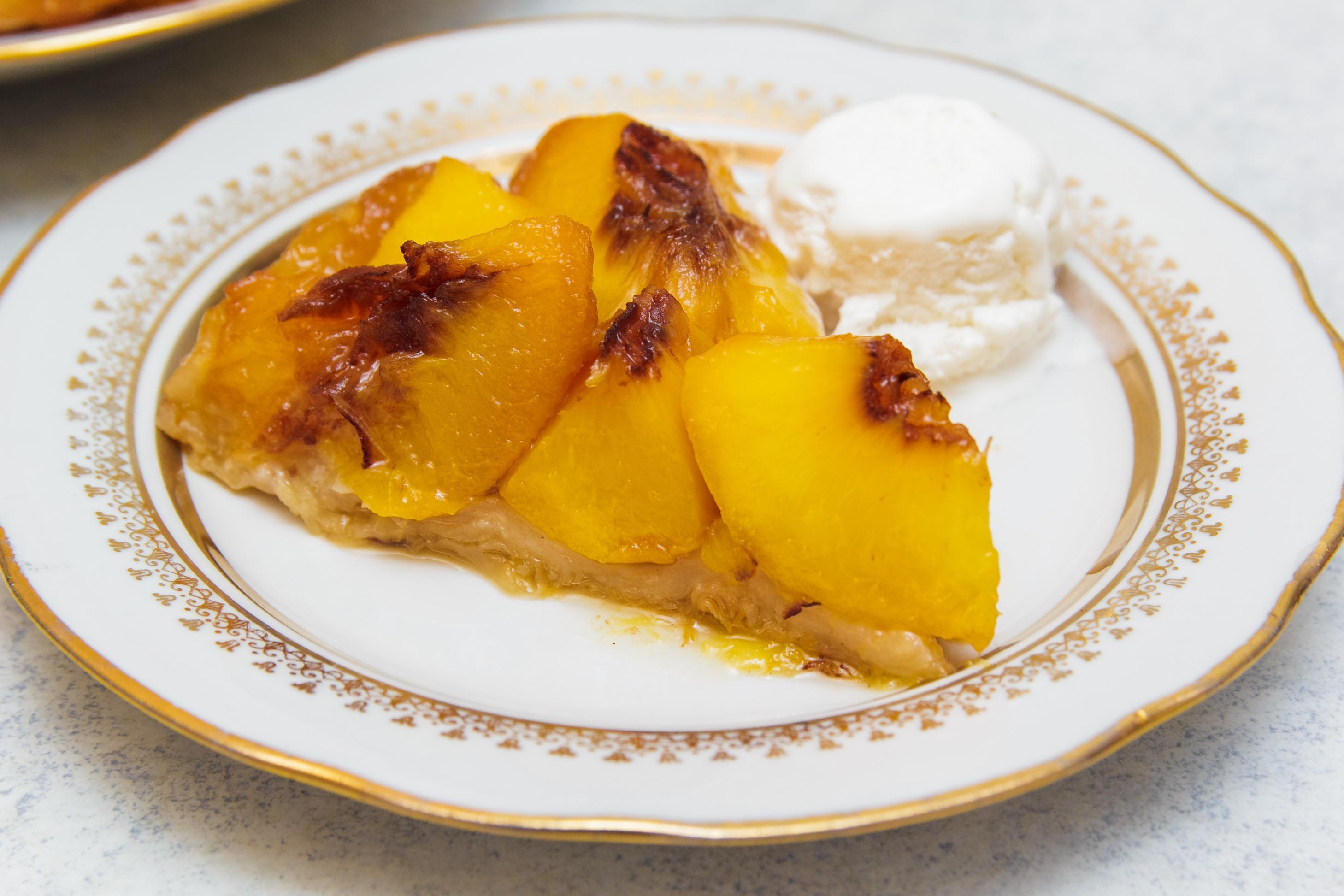 персики в слоеном тесте рецепт с фото