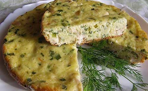 бульон с сырным пирогом