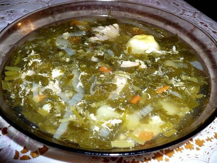 как приготовить зеленый борщ с щавелем и яйцом рецепт с фото пошагово