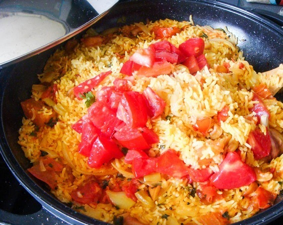 плов с помидорами рецепт с фото