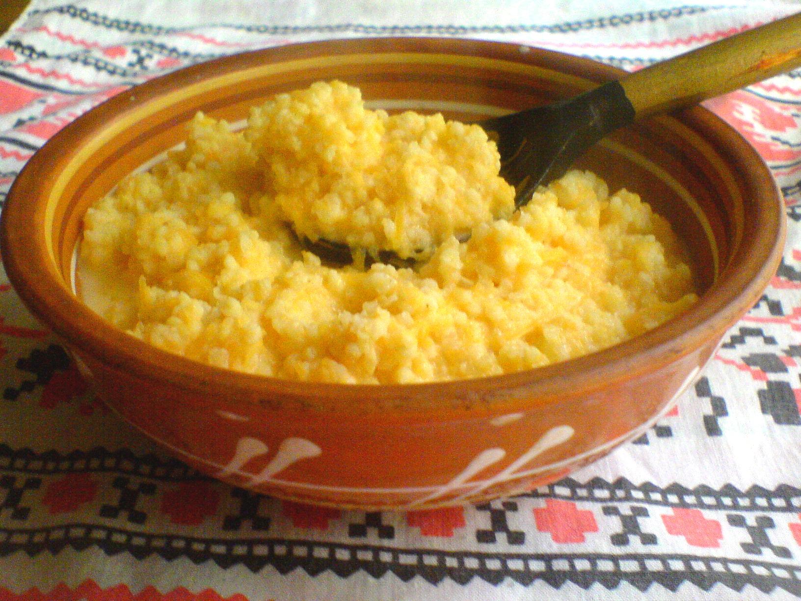 тыквенная каша на воде в мультиварке с рисом