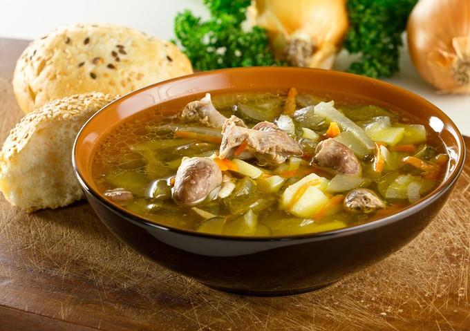 Супы с субпродуктами куриными