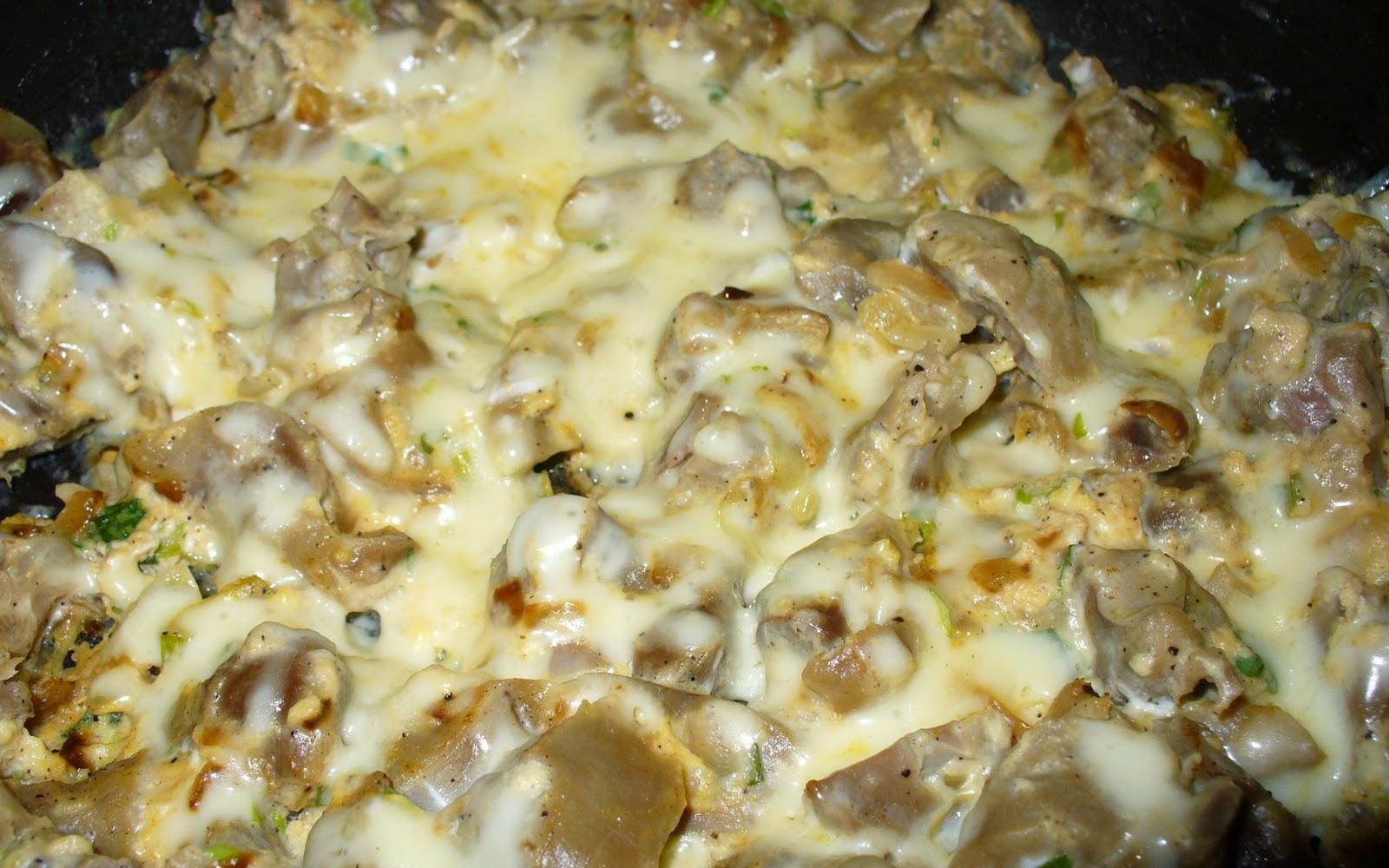 Рецепт приготовления куриных пупков