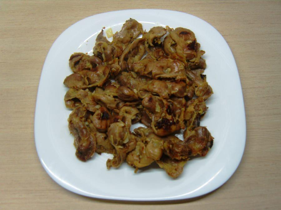 Куриные желудки жареные с луком рецепты