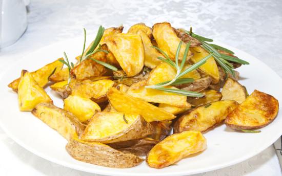 Картошка по деревенски с грибами