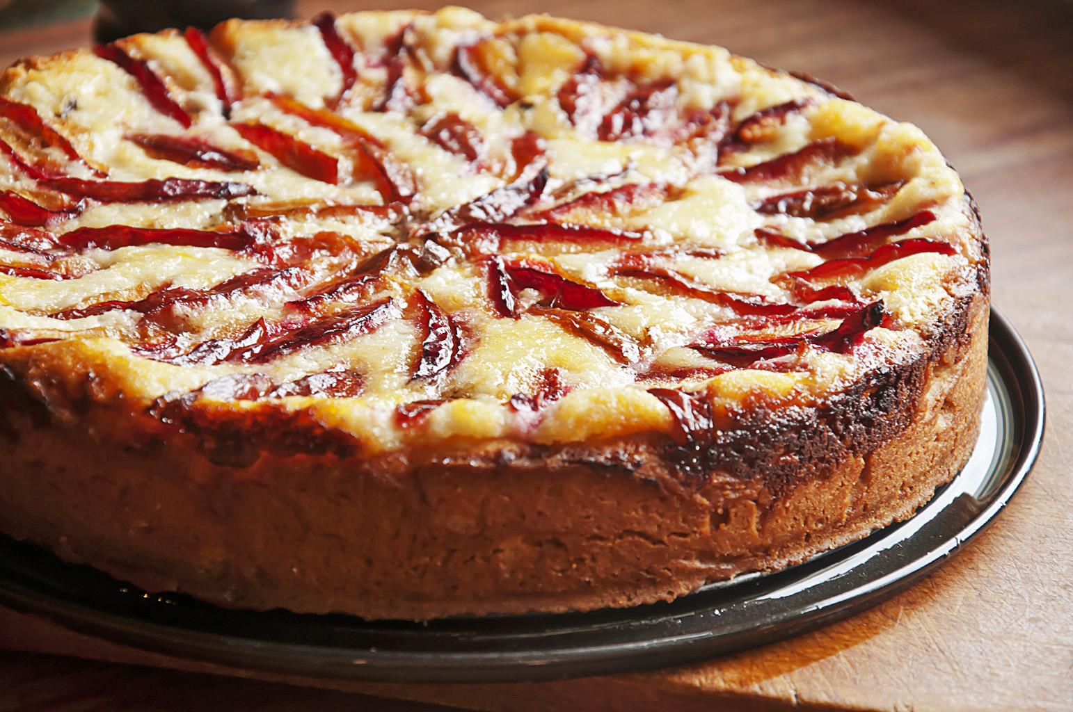 диетический творожный пирог с яблоками