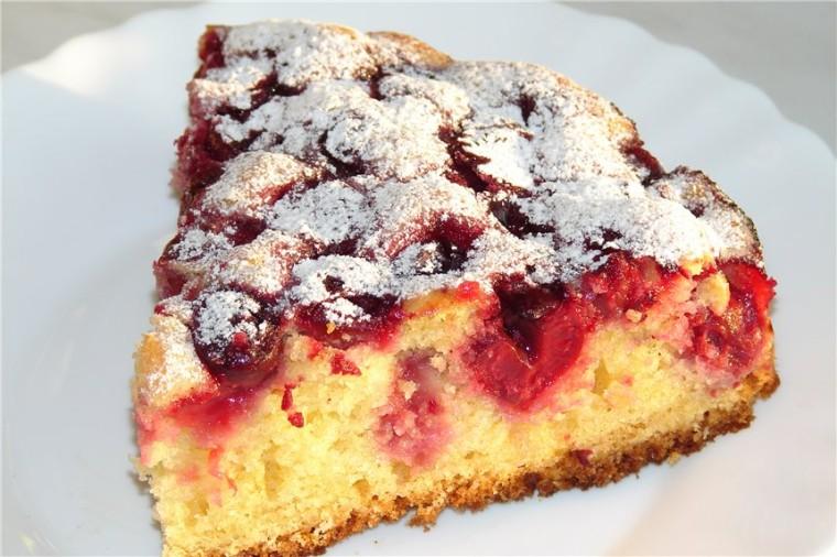 Пирог в мультиварке с вишневым вареньем рецепты с