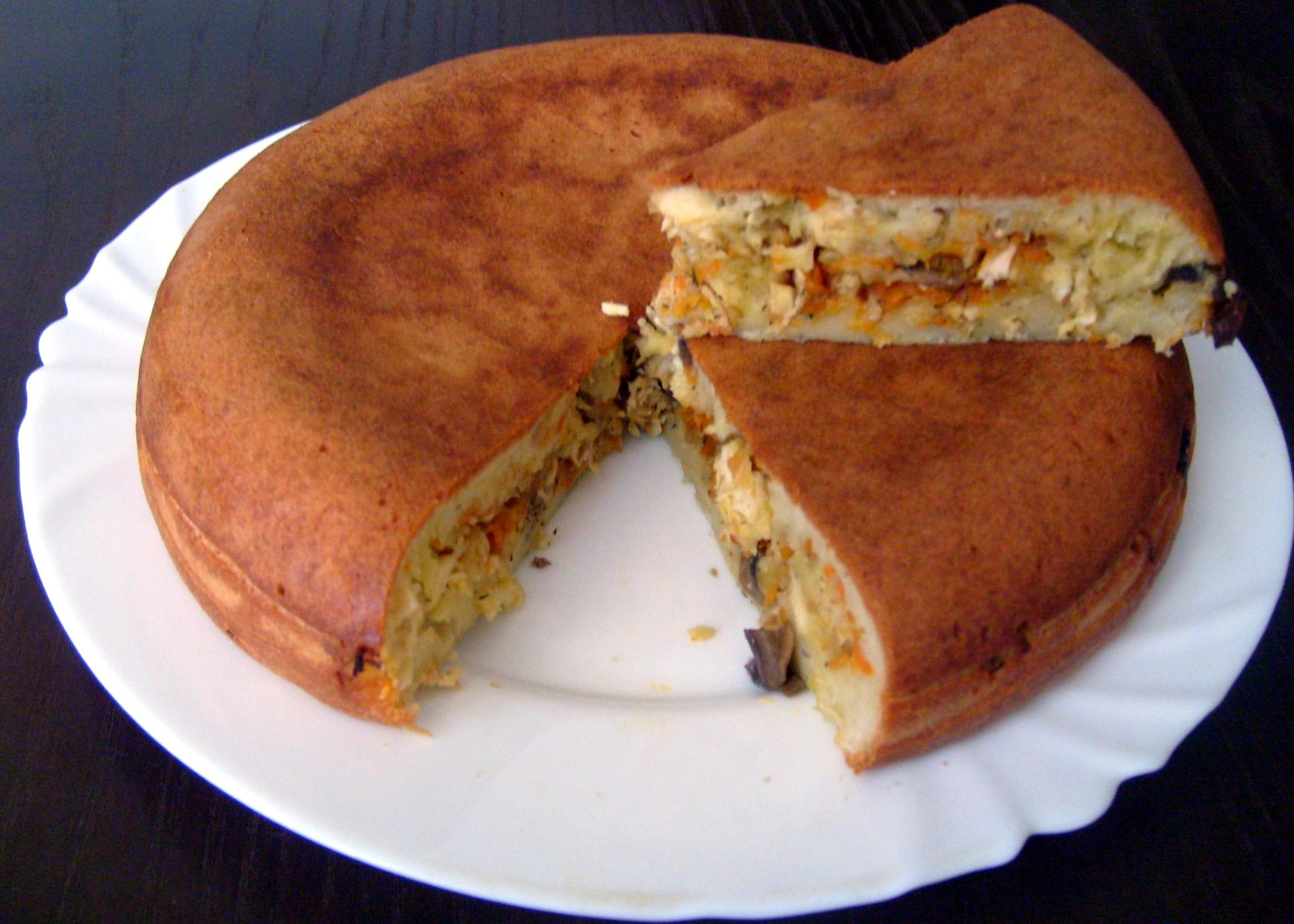 мультиварке с фото в Пирог рецепты с капустой заливной