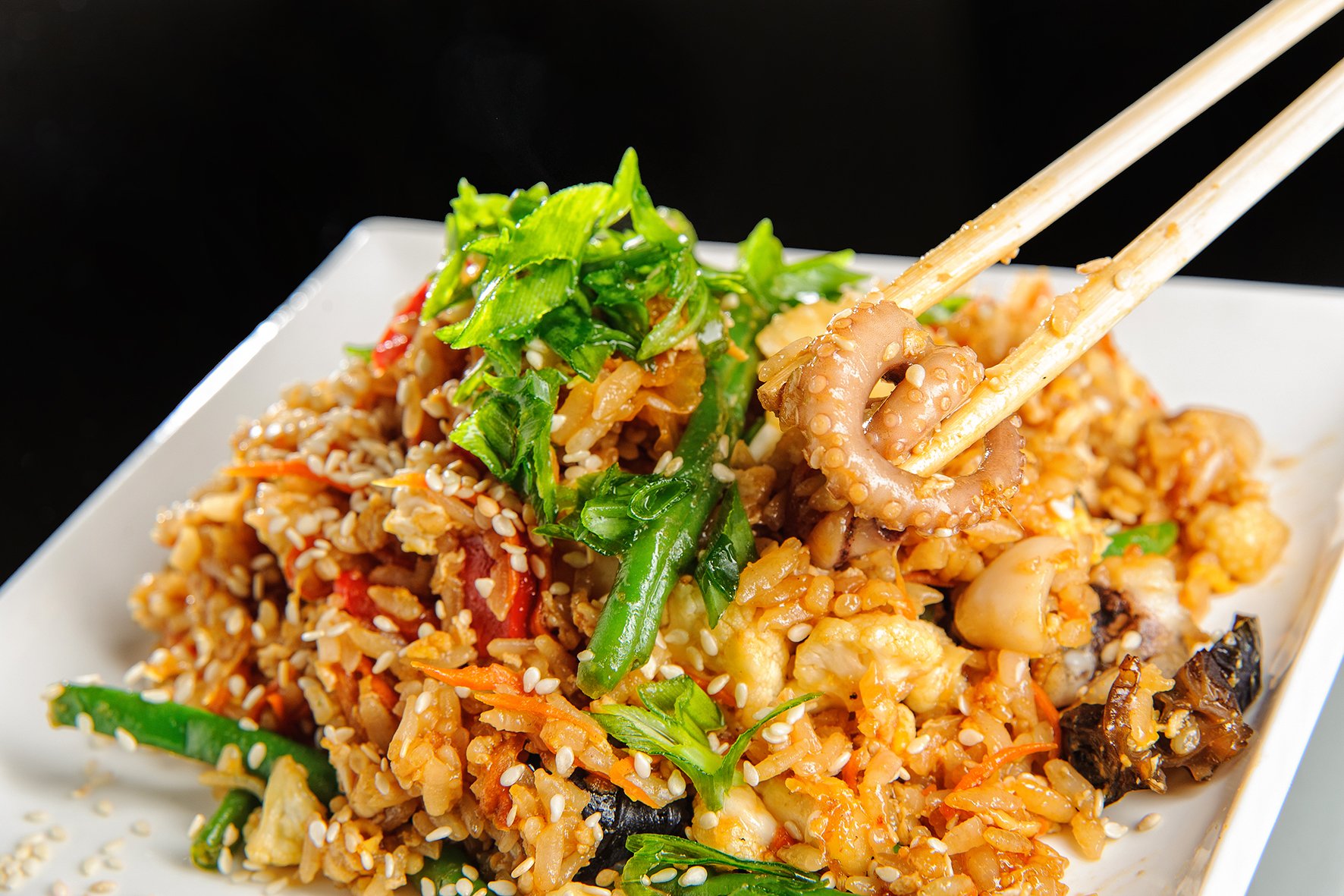 рис с морским коктейлем рецепт с фото