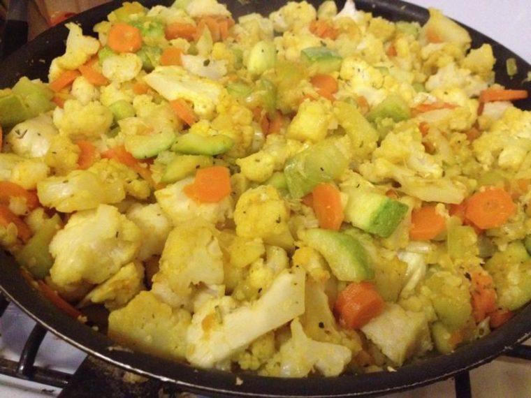 рагу овощное с цветной капустой рецепт