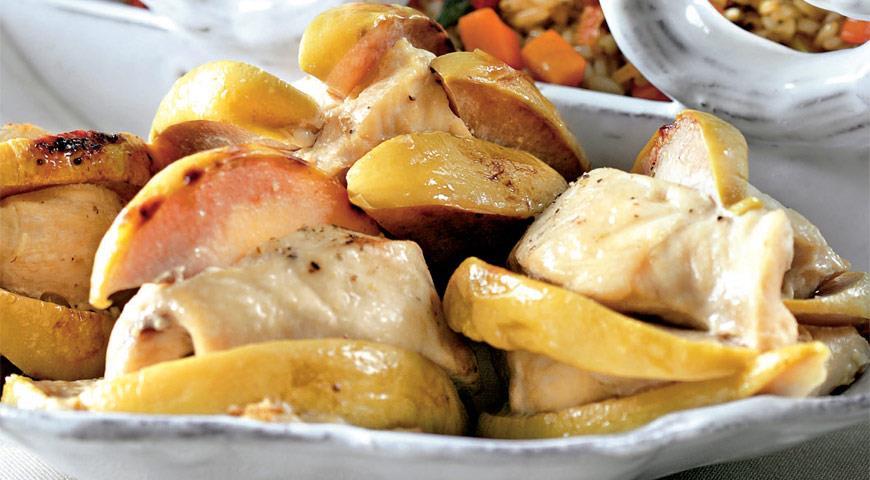Курица с айвой в духовке рецепты