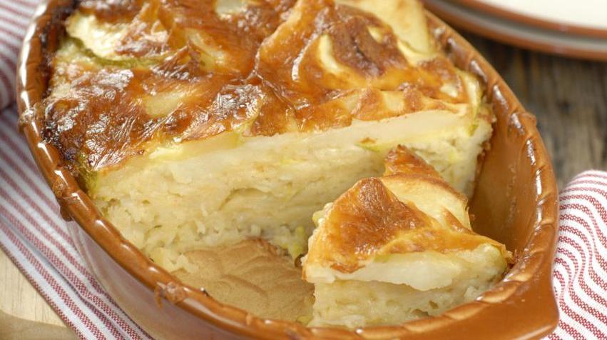 Запеканка из картофеля и кабачков в духовке рецепт с пошаговый