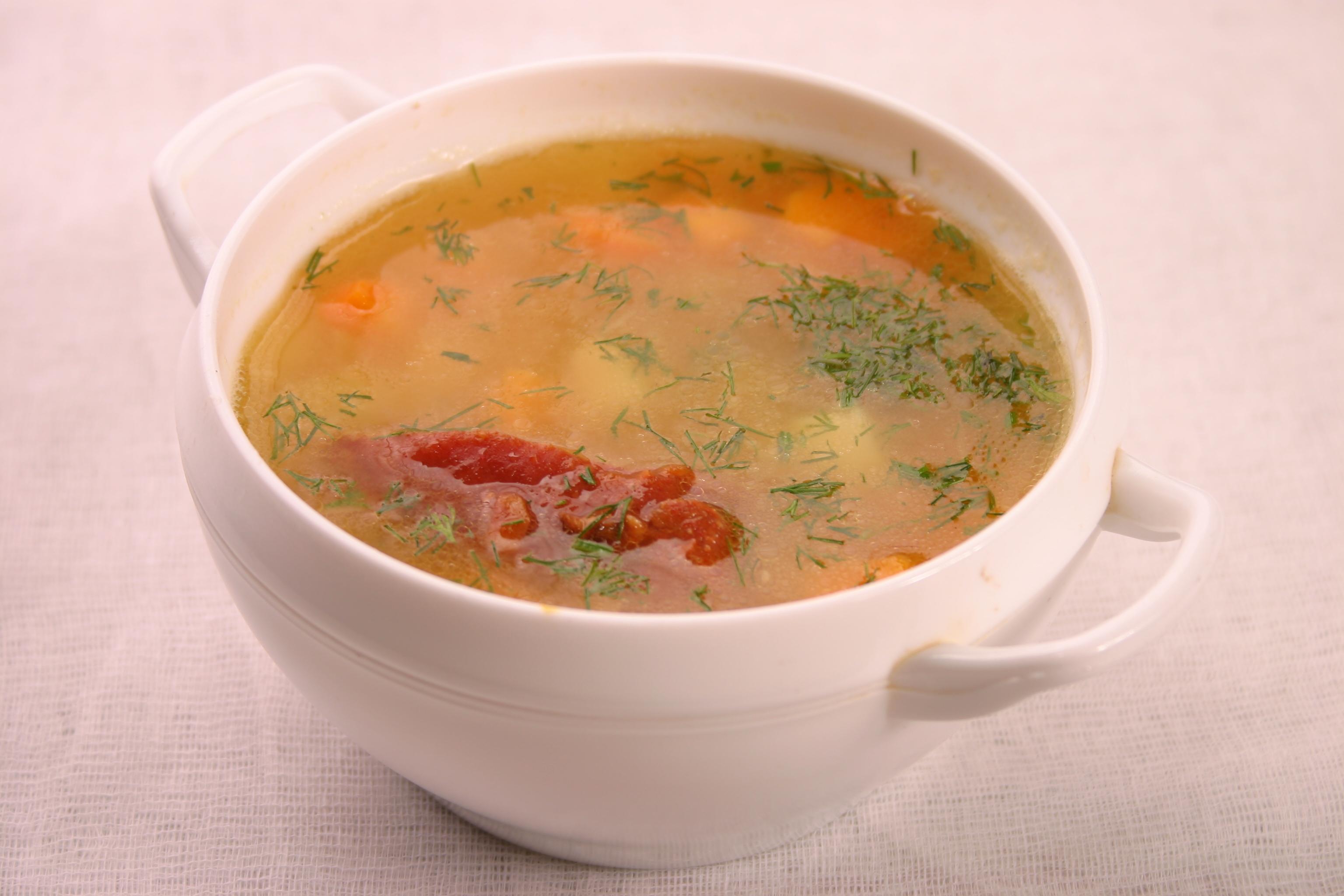 Как приготовить гороховый суп с копченостями в мультиварке