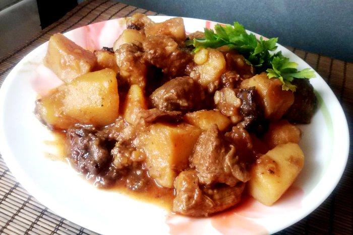 тушение картошки с мясом в с мультиварке