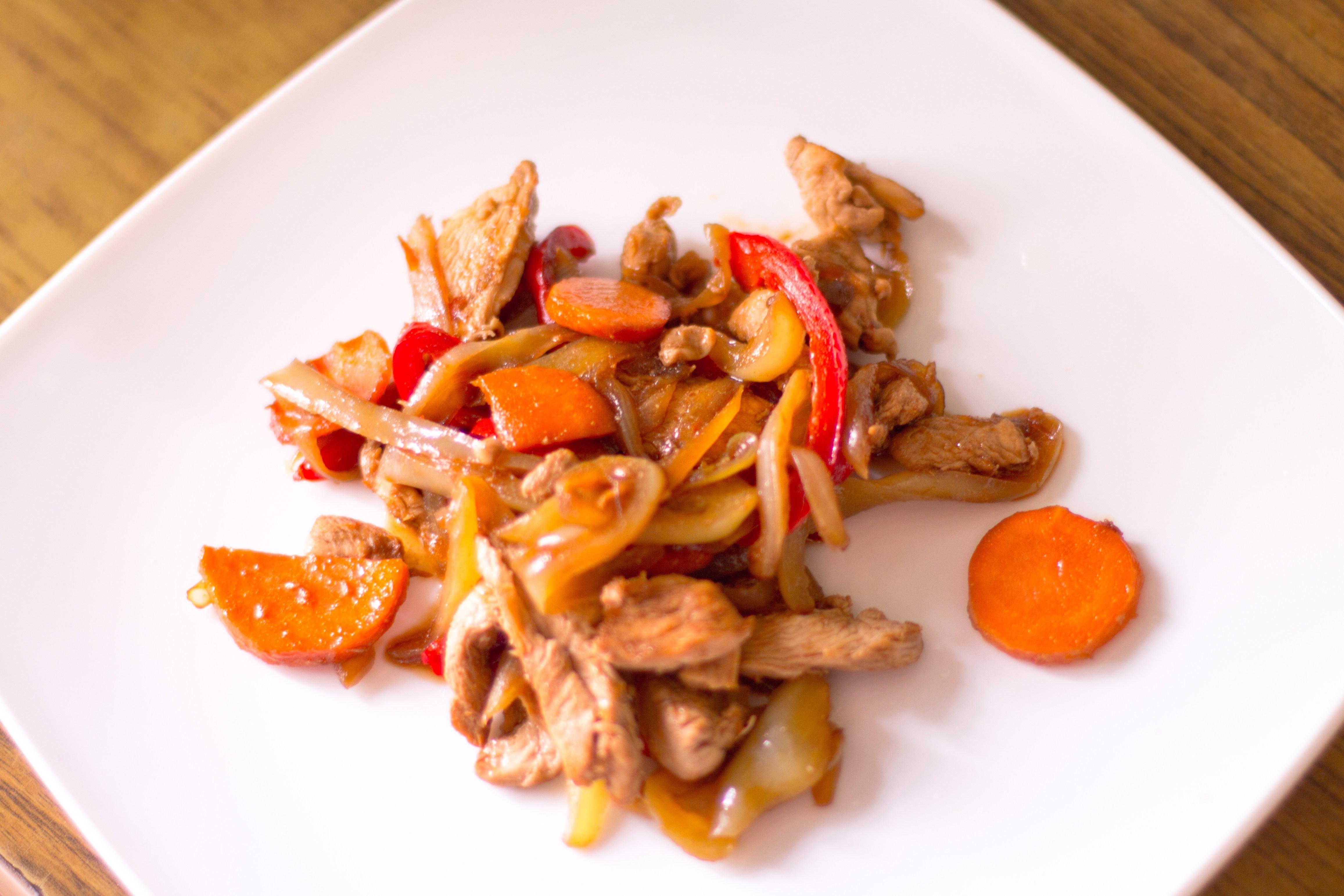 Жареная курица в соусе