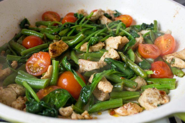 Фасоль стручковая рецепты приготовления с курицей