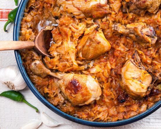 солянка из капусты с курицей рецепт с фото