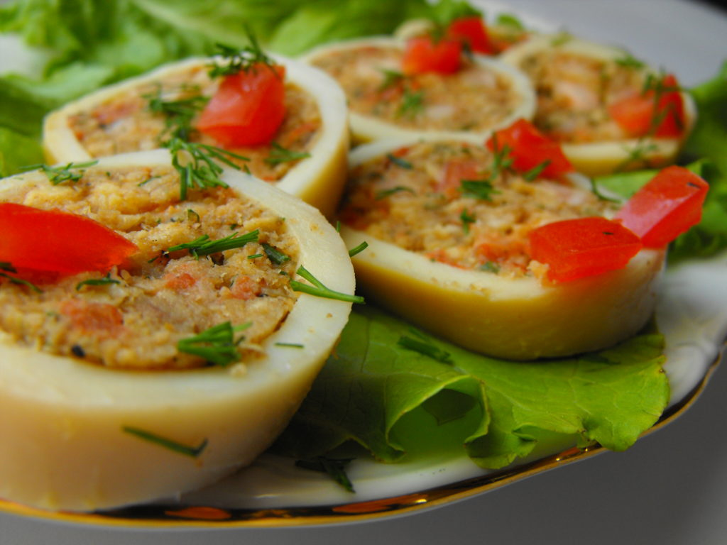 кальмары фаршированные рецепты приготовления с фото пошагово
