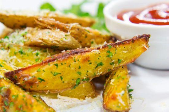 картошка печеная с чесноком в духовке рецепт