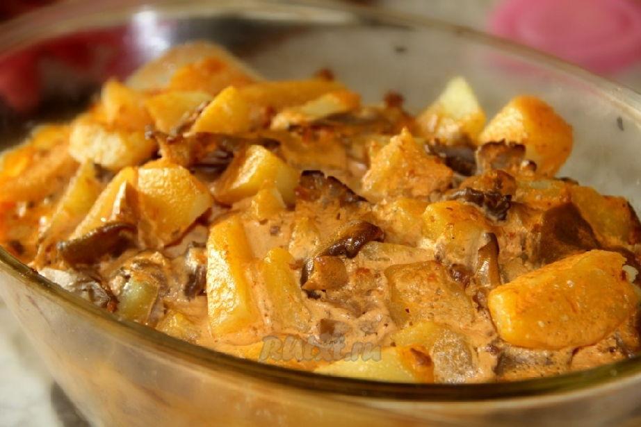 картошка в мультиварке с грибами рецепты с фото