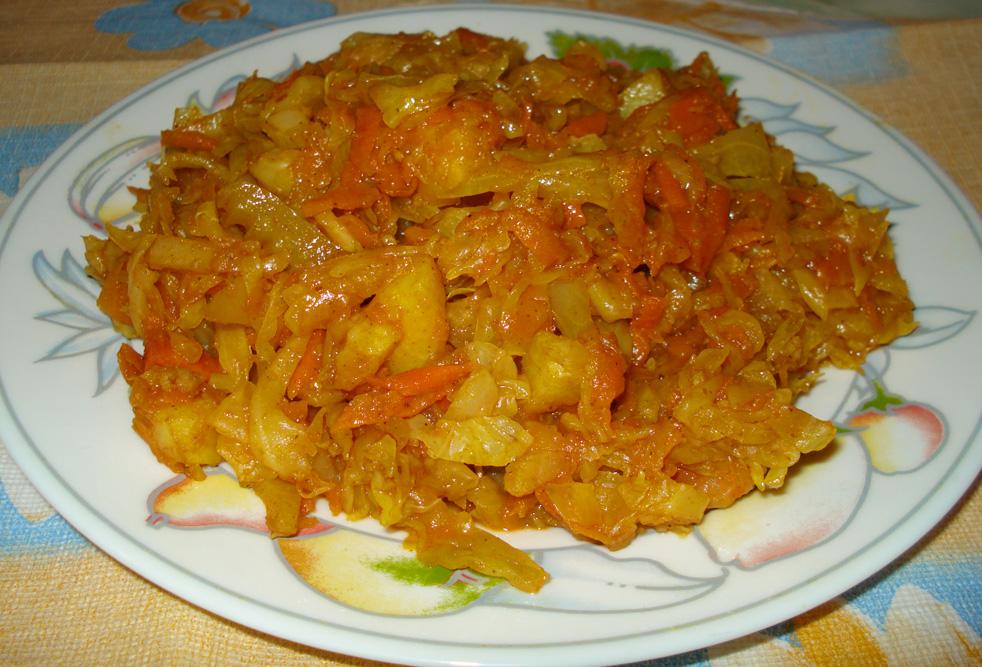 капуста с кабачками тушеная на сковороде рецепты