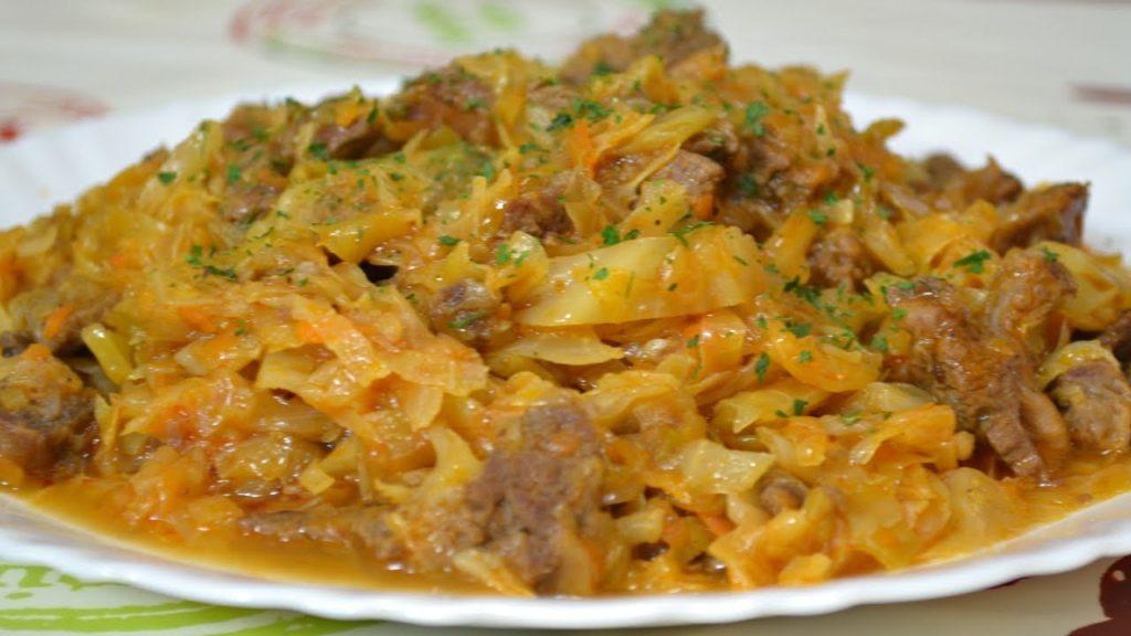 рецепт тушеной капусты с мясом и картошкой связи
