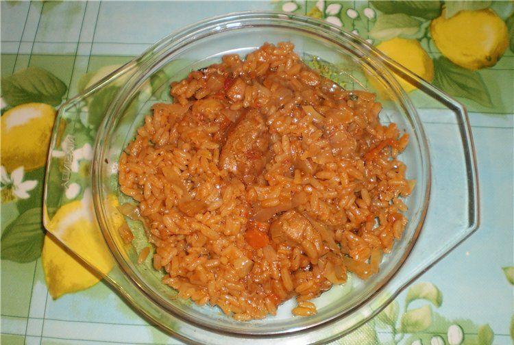 Плов из курицы с помидорами рецепт с пошагово
