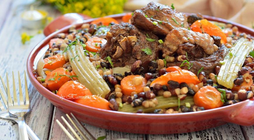 мясо индейки с картошкой и овощами