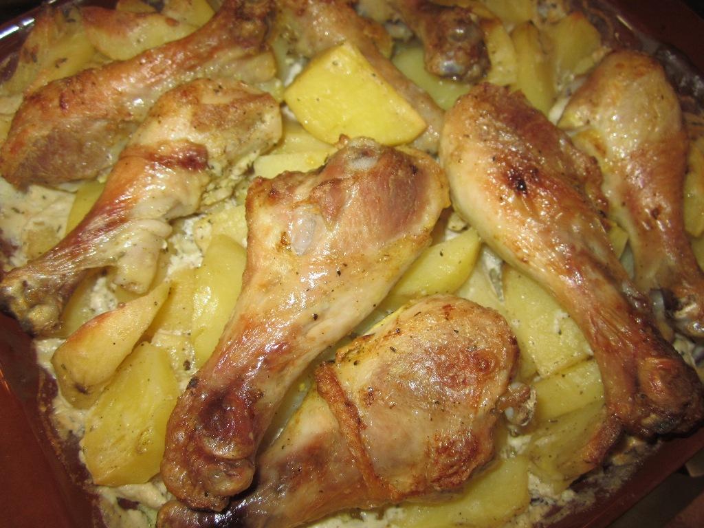 куриные ножки в мультиварке с картошкой