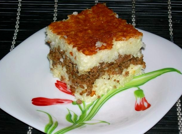 Запеканка рис фарш