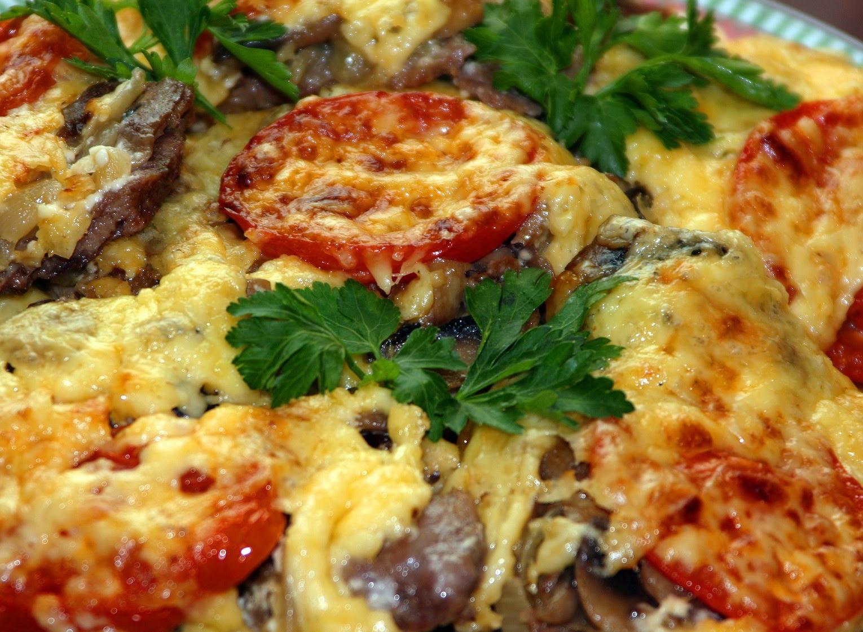 Мясо по-французски с грибами и картофелем в духовке рецепт